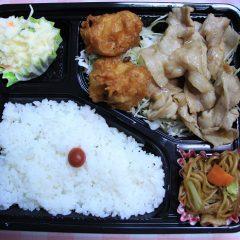 カラアゲ&しょうが焼き(520円)